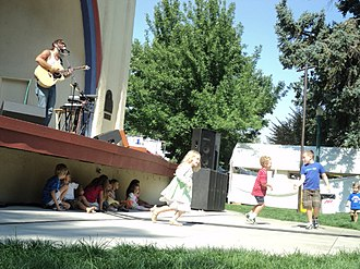 Boise greenbelt - Local musician James Orr performs at the 57th Annual Art in the Park in Julia Davis Park at the Gene Harris Bandshell