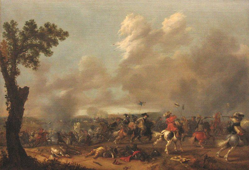 Fil:Jan Asselijn König Gustav Adolf II in der Schlacht von Lützen 1635.jpg
