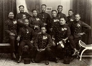 Republic of South Maluku - Decorated KNIL soldiers, 1927.