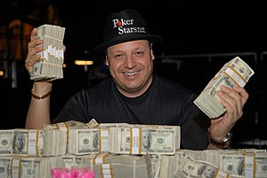 Jeff Lisandro - Lisandro after winning the $2,000 seven-card stud event at the 2007 World Series of Poker