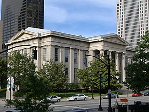 Jefferson County Courthouse (now Louisville Metro Hall) in downtown Louisville