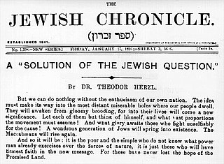 Zionism Movement that supports the creation of a Jewish homeland