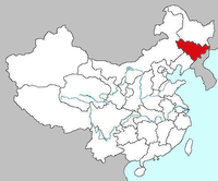Map of Jilin
