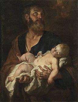 Johann Carl Loth - Hl. Josef mit dem Christkind - 1592 - Bavarian State Painting Collections