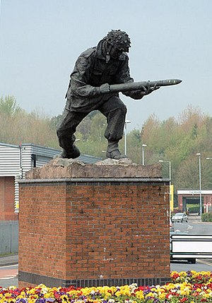 John Baskeyfield - The memorial statue at Festival Heights in Stoke-on-Trent