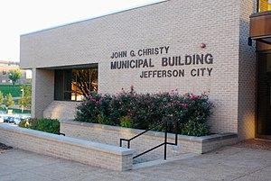 Jefferson City, Missouri - The John G. Christy Municipal Building houses the city hall.