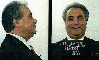 John Gotti - Gotti's 1990 mugshots