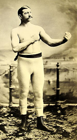 Bare-knuckle boxing - Irish American bare-knuckle boxer John L. Sullivan