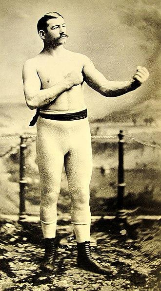 Bare-knuckle boxing - Irish American bare-knuckle boxer John L. Sullivan