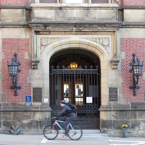 Entrance to the John P. Robin Civic Building