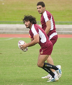 Greg Inglis - Inglis training with Johnathan Thurston for the Queensland State of Origin team in 2009