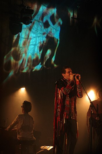English: Jonsi performing at Moogfest 2010