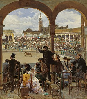 Costumbrismo - José Jiménez Aranda (1837–1903): The Bullring (1870)
