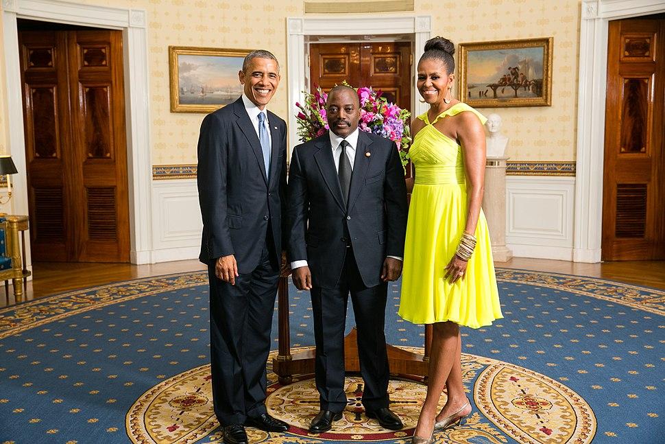 Joseph Kabila with Obamas 2014