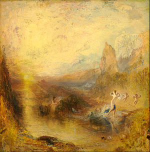 Kimbell Art Museum - Joseph Mallord William Turner, 1841, Glaucus and Scylla, oil on panel, 77 × 78 cm