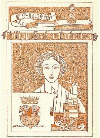 Joseph Sattler - Bookplate designed for Philip, Prince of Eulenburg