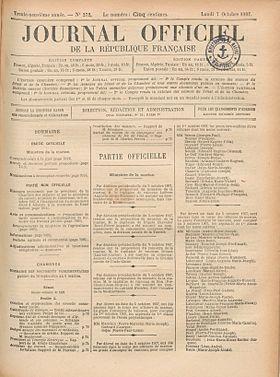 Diario oficial de la rep blica francesa wikipedia la for Republica francesa wikipedia