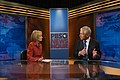 Judy Woodruff interviews Chuck Hagel for PBS NewsHour.jpg