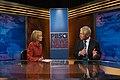 Judy Woodruff interviews Chuck Hagel for PBS NewsHour.jpg