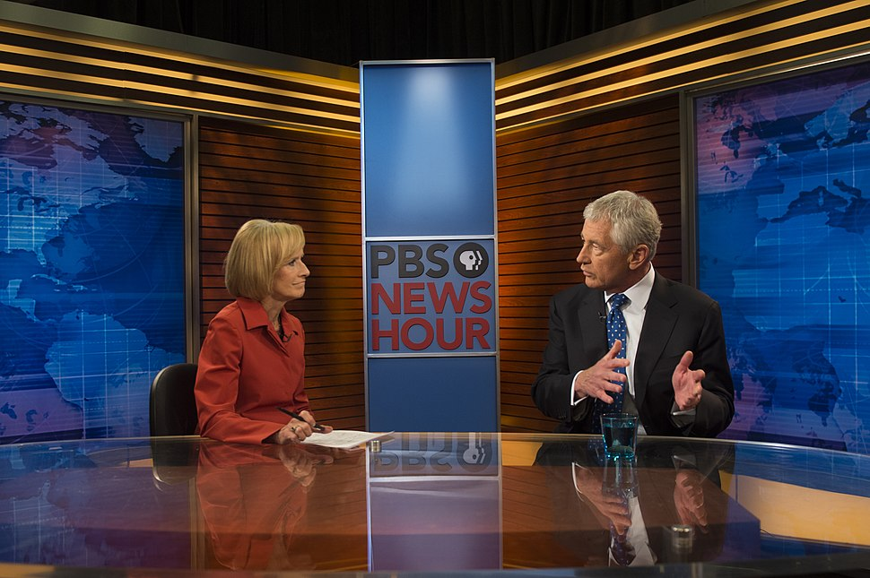 Judy Woodruff interviews Chuck Hagel for PBS NewsHour