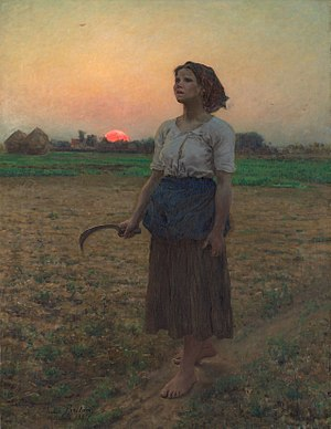 "The Song of the Lark - ""Song of the Lark"" by Jules Breton, the painting that inspired the title of the book."