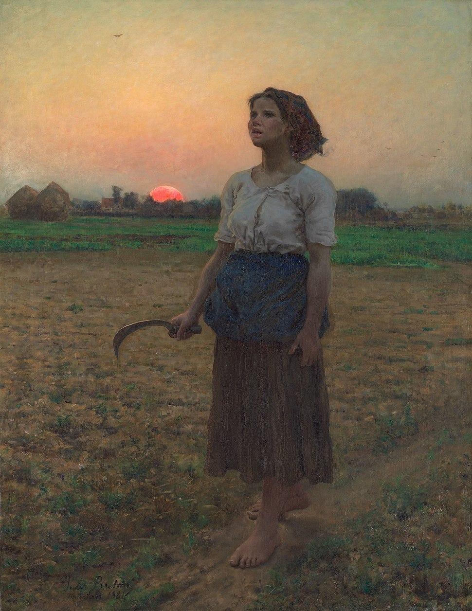 Jules Breton, le chant de l'alouette.1884