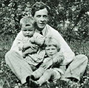 Julian Huxley and 2 sons