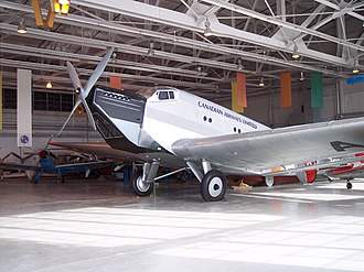 "Junkers Ju 52 - Ju 52/1m replica (converted from 52/3m) of ""CF-ARM"" at the Royal Aviation Museum of Western Canada, Winnipeg, Manitoba, Canada"