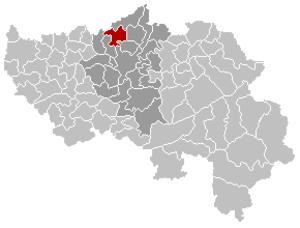 Juprelle - Image: Juprelle Liège Belgium Map
