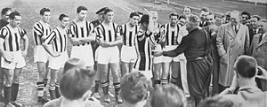 1937–38 Coppa Italia - Juventus receives its first Coppa Italia