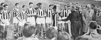 1937–38 Coppa Italia - Juventus receives its first Coppa Italia