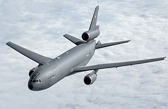McDonnell Douglas KC-10 Extender - A USAF KC-10 Extender after being refueled by another KC-10