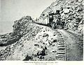 KINAU nearing Mahukona with a narrow gauge train loaded with sugar, 1882.jpg