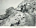 KINAU nearing Mahukona with a narrow gauge train loaded with sugar, 1882.jpg