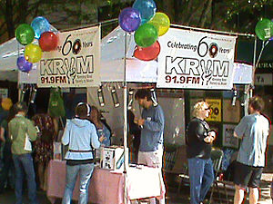 KRVM-FM - The KRVM booth at the 2010 Eugene Celebration