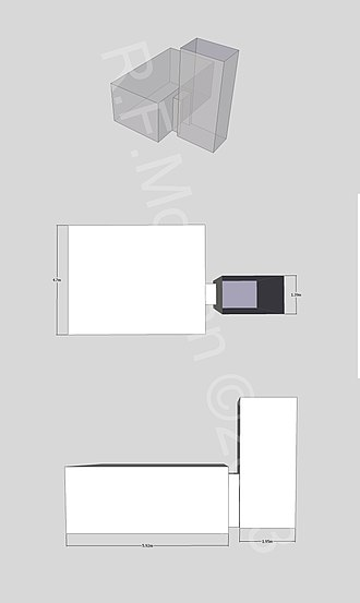 KV48 - Isometric, plan and elevation images of KV48 taken from a 3d model