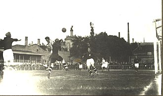JK Tallinna Kalev - The first official football game in Estonia between JS Meteor, predecessor of JK Tallinna Kalev, and Merkuur on 6 June 1909