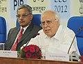 Kapil Sibal addressing at the Economic Editors' Conference-2012, in New Delhi on October 08, 2012. The Secretary, Electronics & IT, Shri J. Satyanarayana is also seen.jpg