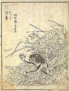 鳥山石燕's relation image