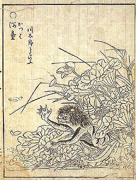 """In Shintoism, the Kappa are a type of water imp and are considered to be one of many suijin (literally """"water-deity"""")."""