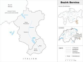 Bernina District - Image: Karte Bezirk Bernina 2007