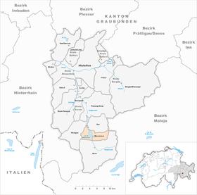 Karte Gemeinde Marmorera 2015