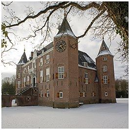 Kasteel in de winter
