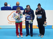 Kazan 2015 - Victory Ceremony 1500m freestyle W.JPG