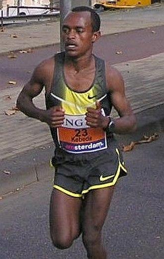 Tsegaye Kebede - Kebede at the 2007 Amsterdam Marathon