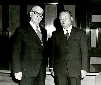 Foreign relations of New Zealand - New Zealand Prime Minister Keith Holyoake (left) met with Japanese Foreign Minister Masayoshi Ohira (right), in October 1972.