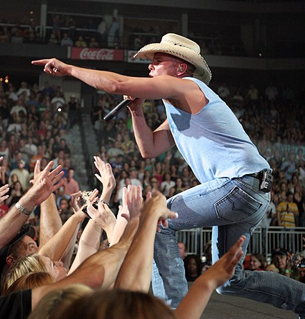Kenny Chesney during a performance in Jacksonville, Florida on August 30, 2008 Kenny Chesney 20080830.jpg
