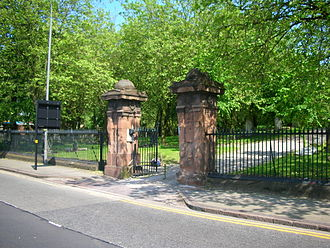 Key Hill Cemetery - Gates and railings on Icknield Street: listed monument