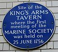 King's Arms Tavern plaque London 1756.jpg