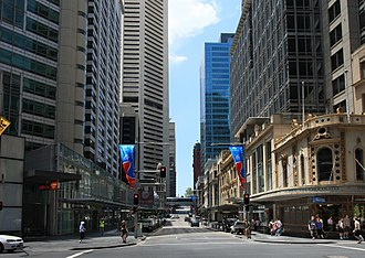 King Street, Sydney - A contemporary view of King Street from the same corner